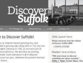 The Discover Suffolk home page